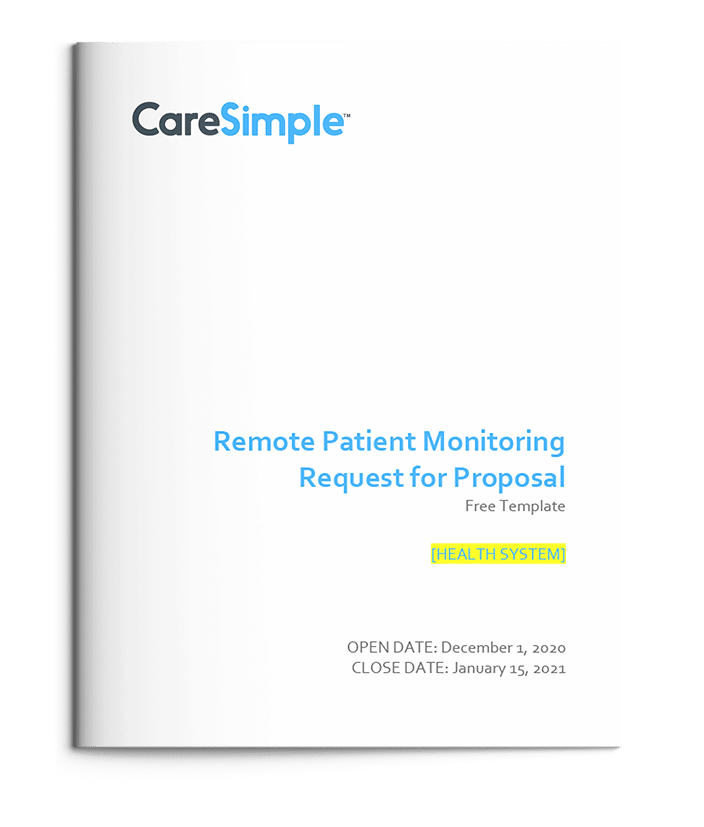 Remote Patient Monitoring RPM Request for Proposal RFP Free Template